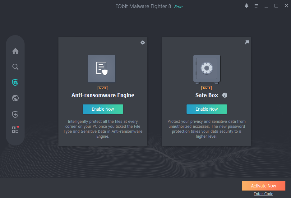 Iobit Malware Fighter view