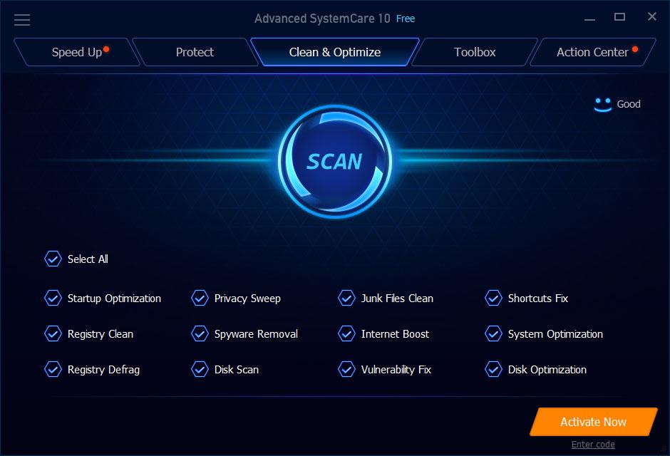 Iobit Malware Fighter pro menu
