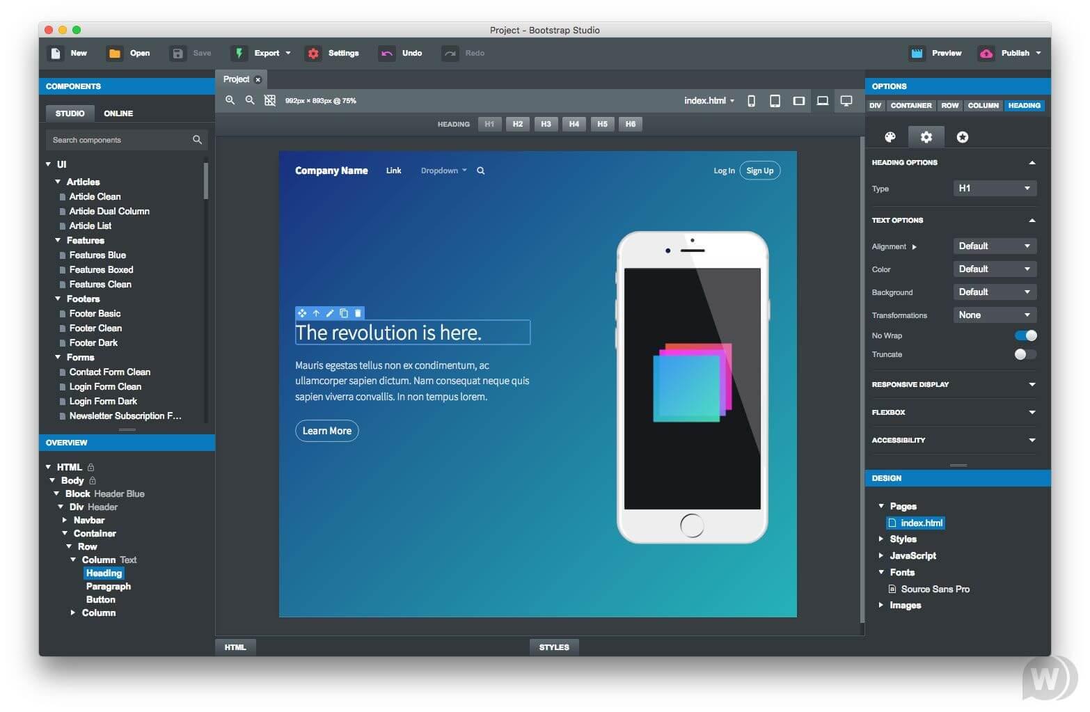 Bootstrap Studio 4 Crack Latest Version Free Download 2020