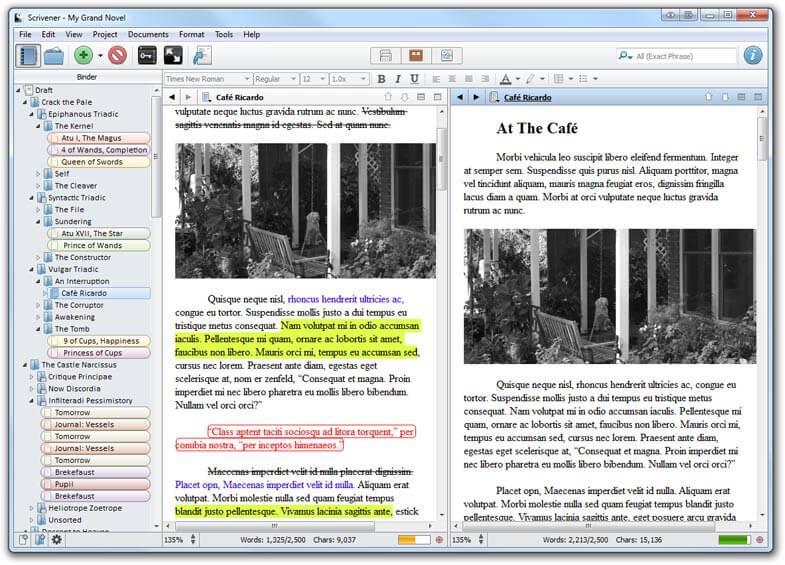 Scrivener 3.0 Writing
